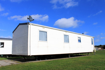 Trailer on caravan park
