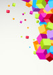 Bright colorful cubes background template