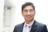 Portrait of 30s Asian Indian businessman poster
