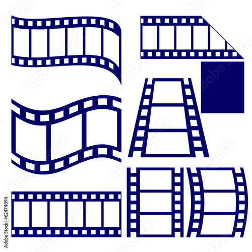 film strip icon set vector  illustration