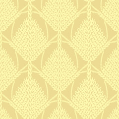 Yellow knitted openwork background pattern
