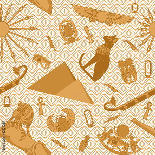 Seamless Egypt Pattern