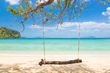 Swing on a tropical beach.