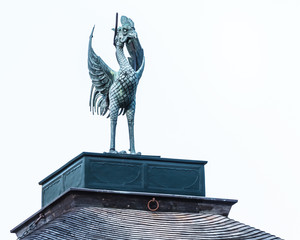 Phoenix bird on the roof of Ginkaku-ji Temple