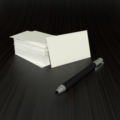 stylus and visit cards
