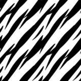 Abstract Print Animal Monochrome Seamless Pattern in Black and W