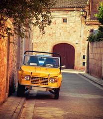 Vintage car in spain street