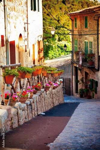 Medieval street in Mallorca