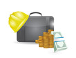 construction profits illustration design