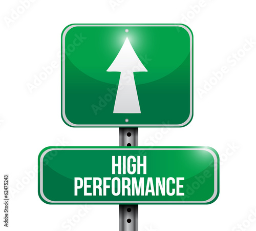 high performance sign illustration design