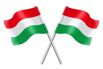 Two Hungarian flags