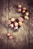 Buds of dried roses