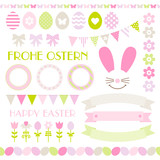 Icons Easter Set Pastel Green