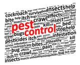 Pest Control For Bugs And Rodents Word Cloud Vector