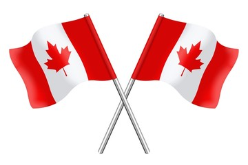 Two canadian flags