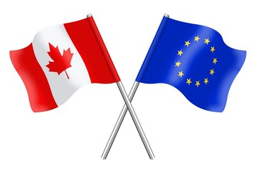 Flags : Canada and Europe