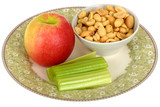 Apple with Celery and Peanuts
