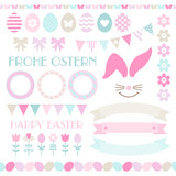 Icon Easter Set Pastel Blue