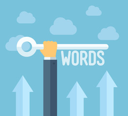 SEO keywords flat illustration concept