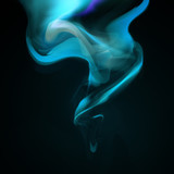Blue smoke background. Abstract illustration