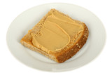 Peanut Butter on Wholemeal Toasted Bread