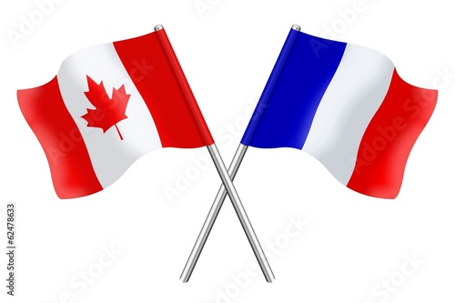 Flags : Canada and France