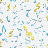 Vector Seamless Pattern of Music Notes