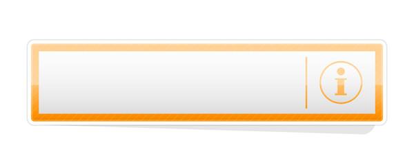 the blank orange info button