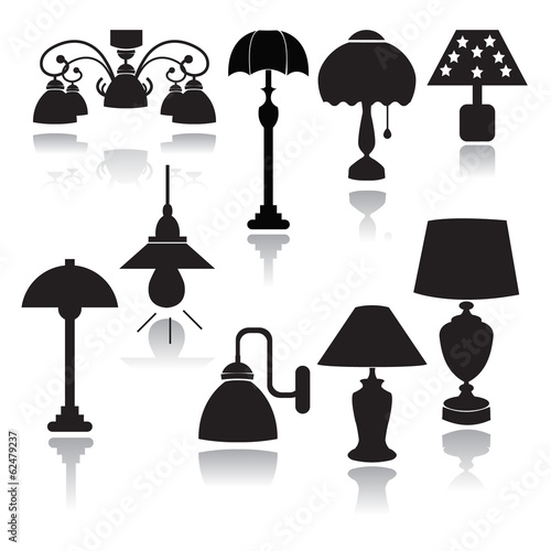 lamps set icons  - Illustration