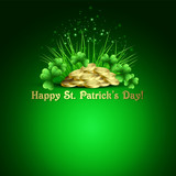 St.Patrick's Day background. Vector illustration