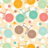 Seamless pattern with bike.