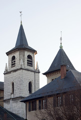 CHAMBERY, FRANCE : December 25, 2011 - The Church of Chambery, F