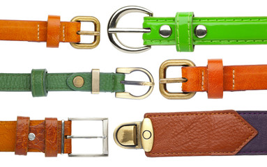 Shabby leather belts