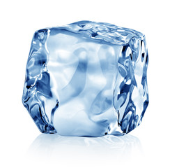 Cube of blue ice