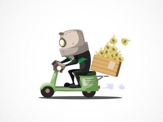 businessman on bike
