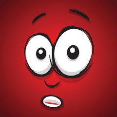 shocked cartoon face