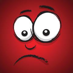 unhappy cartoon face