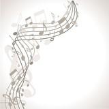 Fototapety musischer Hintergrund mit Noten