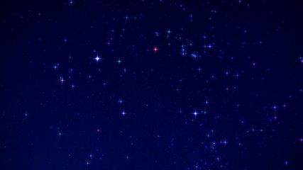 Time Lapse Beautiful Starry Float In Night Sky (effect mode)