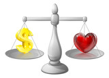 Love or money scales
