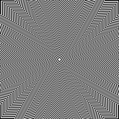 Illusion of rotation movement. Op art.