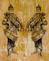 Metallbild - Alte Soldaten