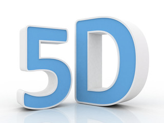 5d word with a shiny glossy surface