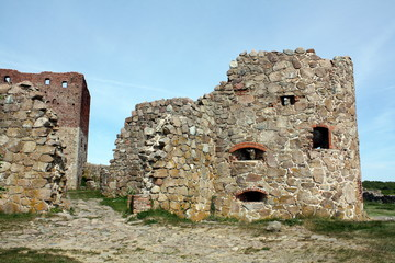 Hammershus ruins of the Danish island Bornholm