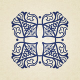 Vector baroque ornament in east style.