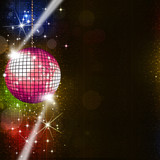 Disco Lights Music Background