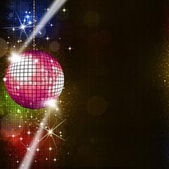 Disco Lights Music Background
