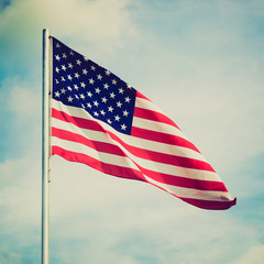 Retro look USA flag