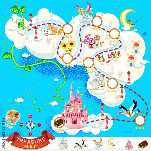 Pirate Treasure Map – Sky Castle - 62483846