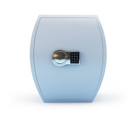 thick safe on a white background